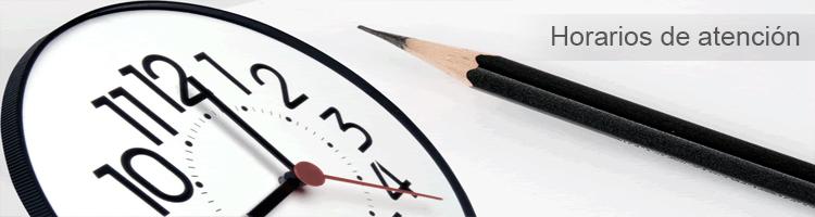 horarios de ayención